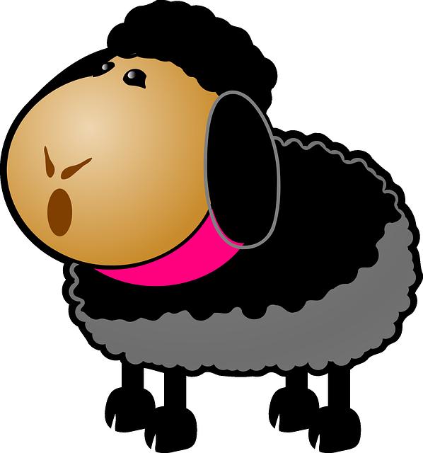Black Sheep · Free vector graphic on Pixabay