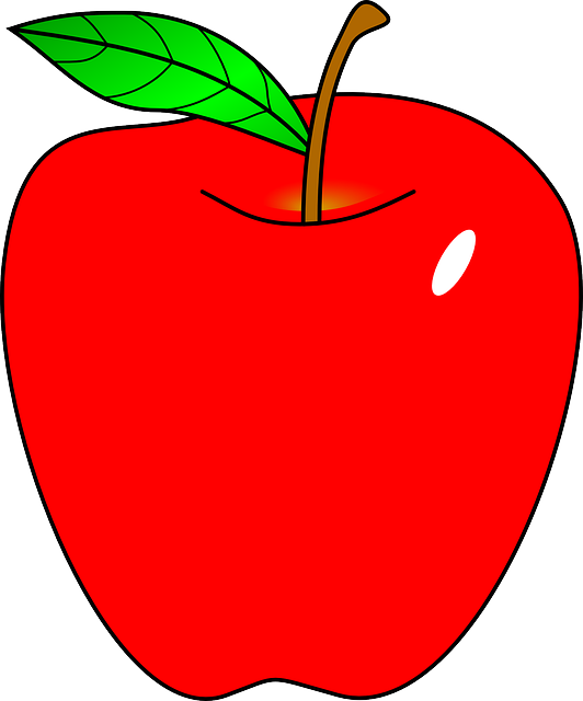 apple clipart clip cartoon fruit apples cliparts vector graphic arts tree animated appel