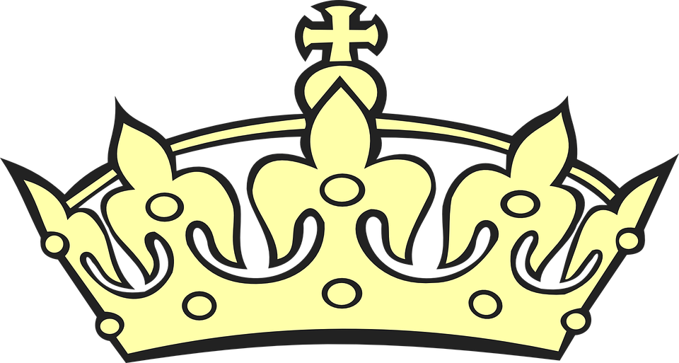 tiara crown yellow free vector graphic on pixabay rh pixabay com vector crown png picture vector crown art