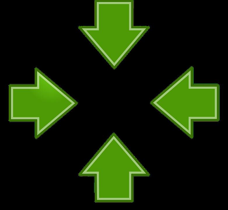 image vectorielle gratuite fl ches vert gauche droit. Black Bedroom Furniture Sets. Home Design Ideas