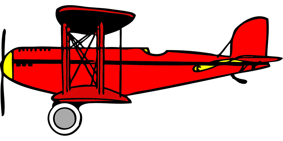 biplane red wings free vector graphic on pixabay rh pixabay com