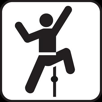 Indoor-Klettern, Bergsteiger, Symbol
