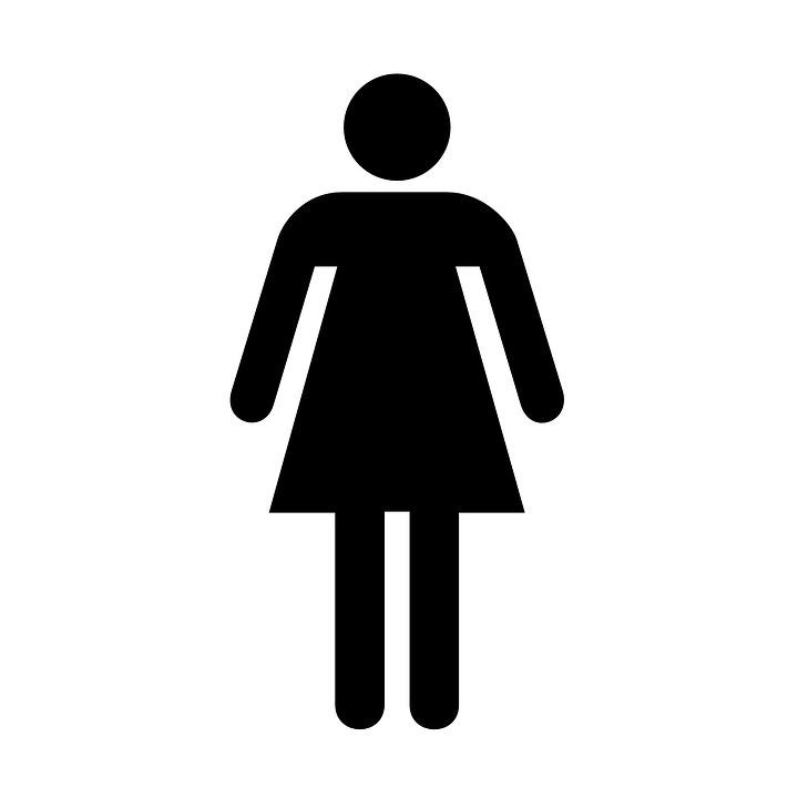 Restroom Bathroom Sign Ladies Women Symbol Woman