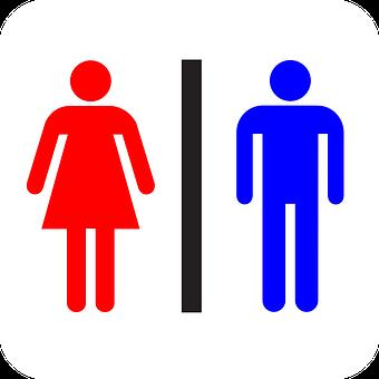 Restroom Bathroom Sign Ladies Women Men Ge