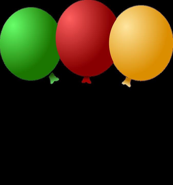 kostenlose vektorgrafik luftballons feier dekoration. Black Bedroom Furniture Sets. Home Design Ideas