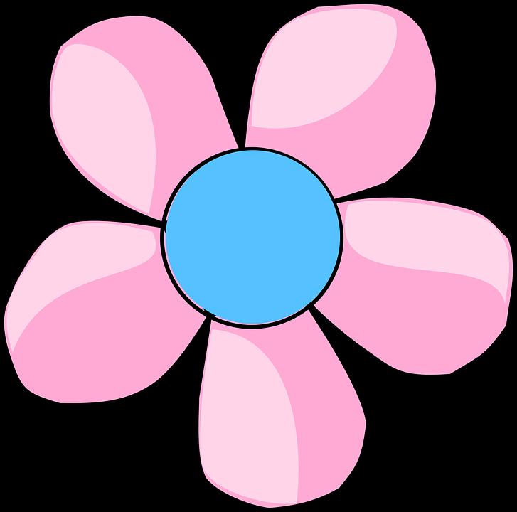 Kwiat, Niebieski, Różowy, Płatki, Pięć, Wiosna