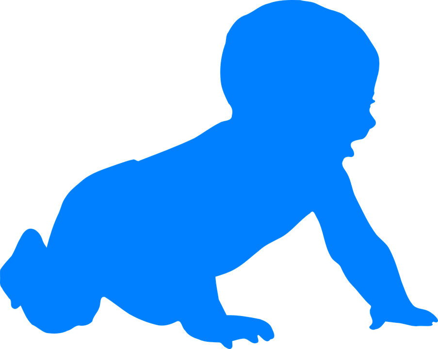 baby crawling infant free vector graphic on pixabay rh pixabay com baby elephant silhouette clip art baby jesus silhouette clip art