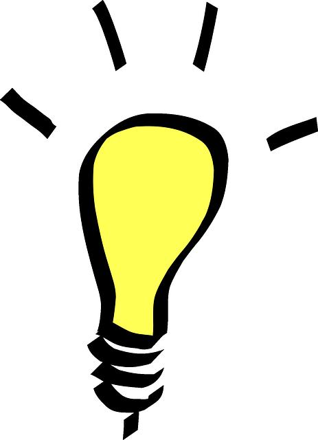 Image vectorielle gratuite lumi re ampoule jaune id e for Idees lucratives gratuites
