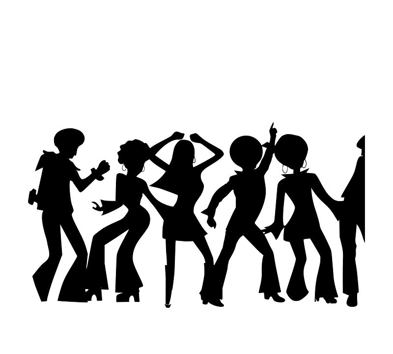 people dancing disco free vector graphic on pixabay rh pixabay com Dancing Man Clip Art Group Dancing Clip Art