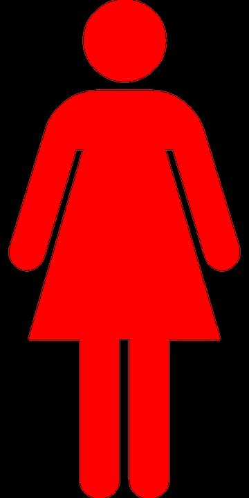 Vector gratis: Mujer, Pictograma, Rojo - Imagen gratis en ...
