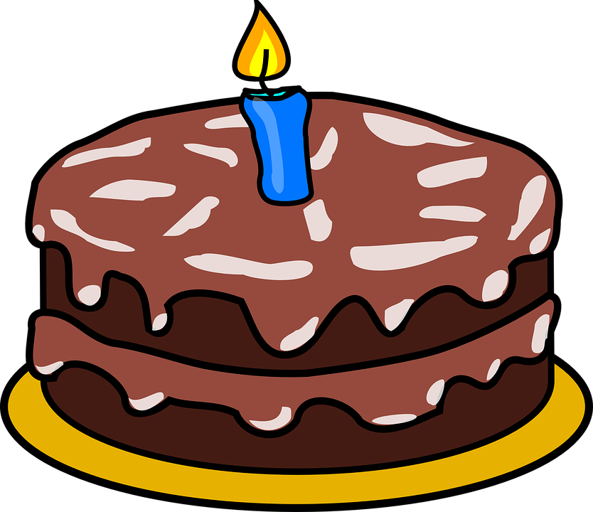 Cake Chocolate Candle Free Vector Graphic On Pixabay