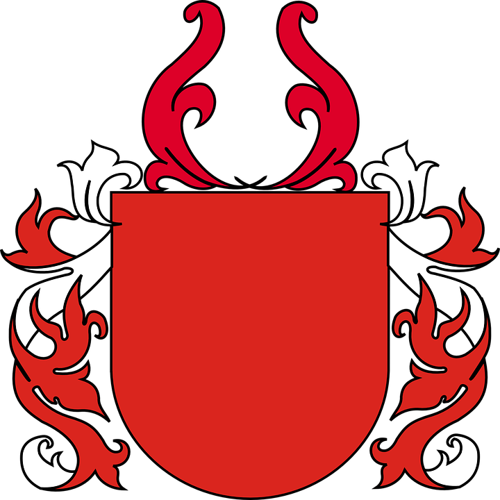 Shield Coat Of Arms Red 183 Free Vector Graphic On Pixabay