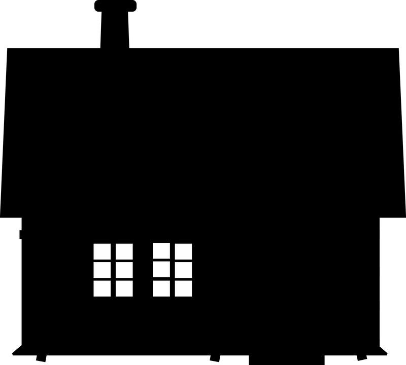 house silhouette windows free vector graphic on pixabay