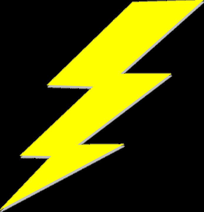 Lightning Bolt Blitz Yellow Anger