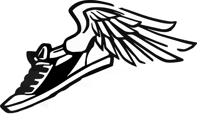 sneaker tennis shoe free vector graphic on pixabay rh pixabay com shoe with wings logo brand shoe with wings logo answer is called