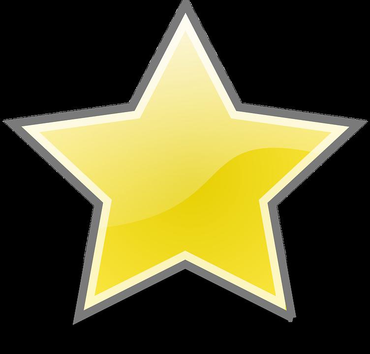 Hvězda, Shine, Znamení, Ikona, Žlutá, Slib