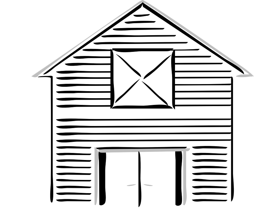 Barn High White Free Vector Graphic On Pixabay