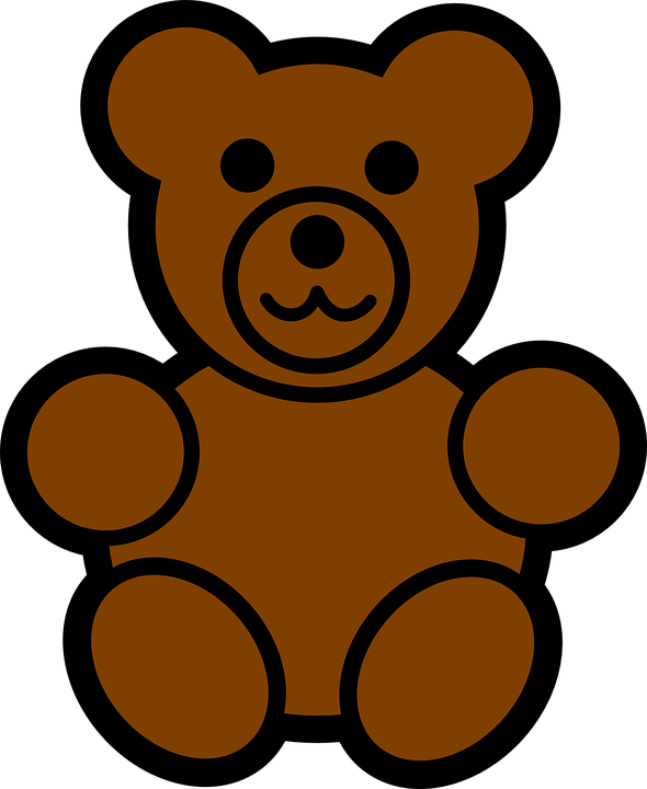 Teddy Bear Toy Brown · Free vector graphic on Pixabay