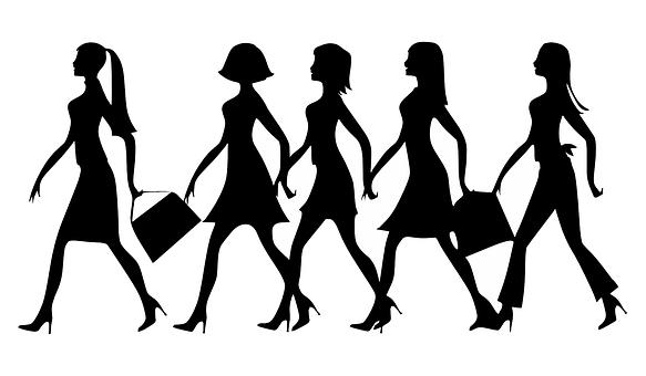 Silueta, Ženy, Práce, Chůze, Naparovat