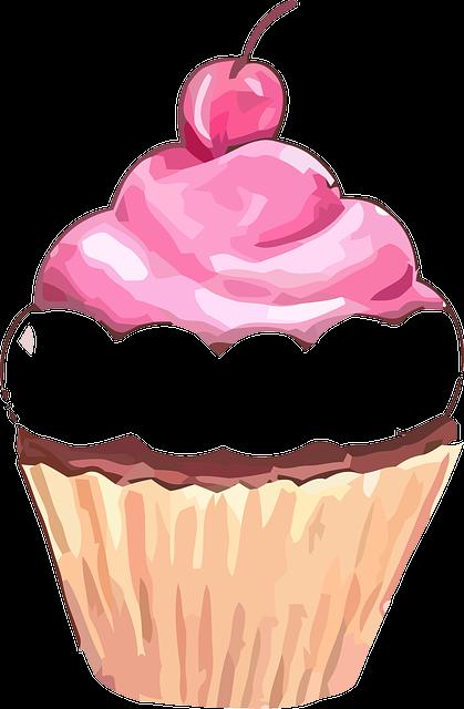 Kostenlose Vektorgrafik Cupcake Muffin S 252 223 Kirsche