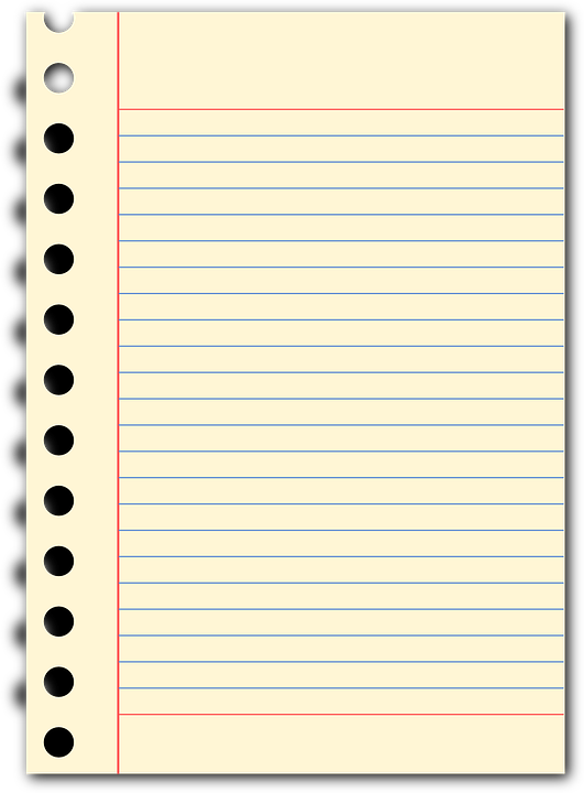 Notepad Page To Write A Letter