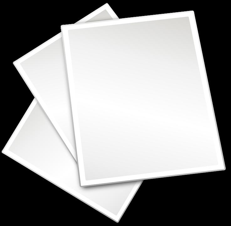 Drei Papier Weiß · Kostenlose Vektorgrafik auf Pixabay