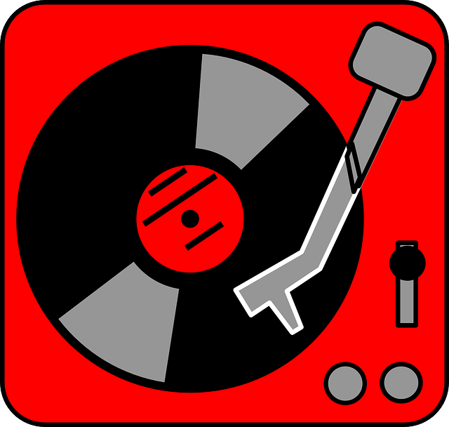 Free Vector Graphic Turntable Oldschool Red Music
