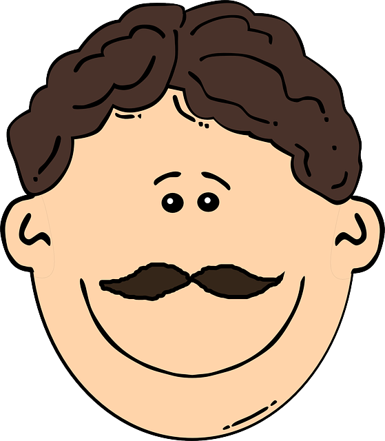 Young Happy Boy With Brown Wet Hair Is Smiling And: Man Mustache Brunette · Free Vector Graphic On Pixabay