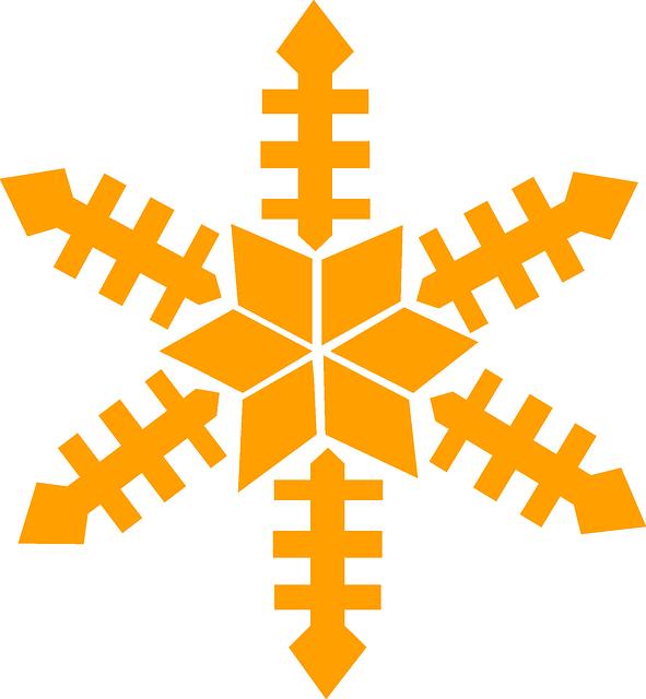 Free vector graphic snow flake gold winter christmas for Smow gutschein