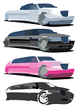 cars, limo, blurred
