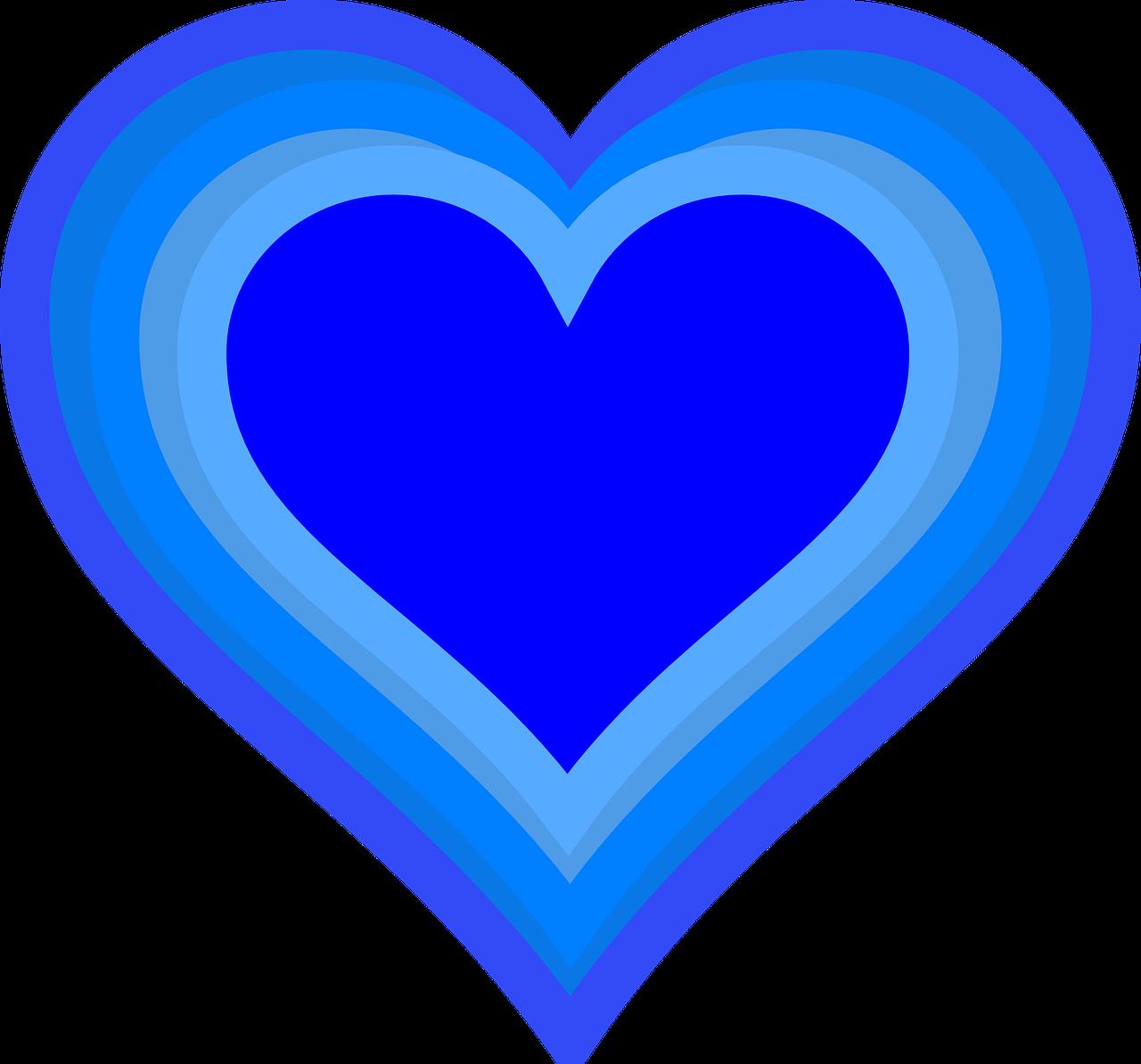 картинки сердечки синего цвета некоторые кошки