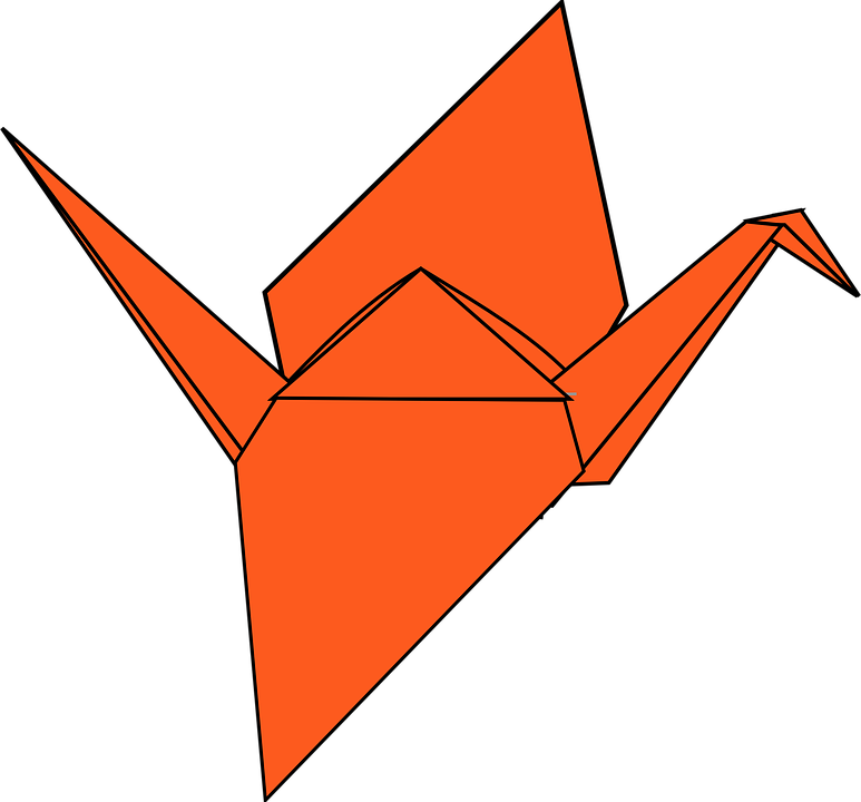 Origami Paper Art Swan Crane Folding Orange