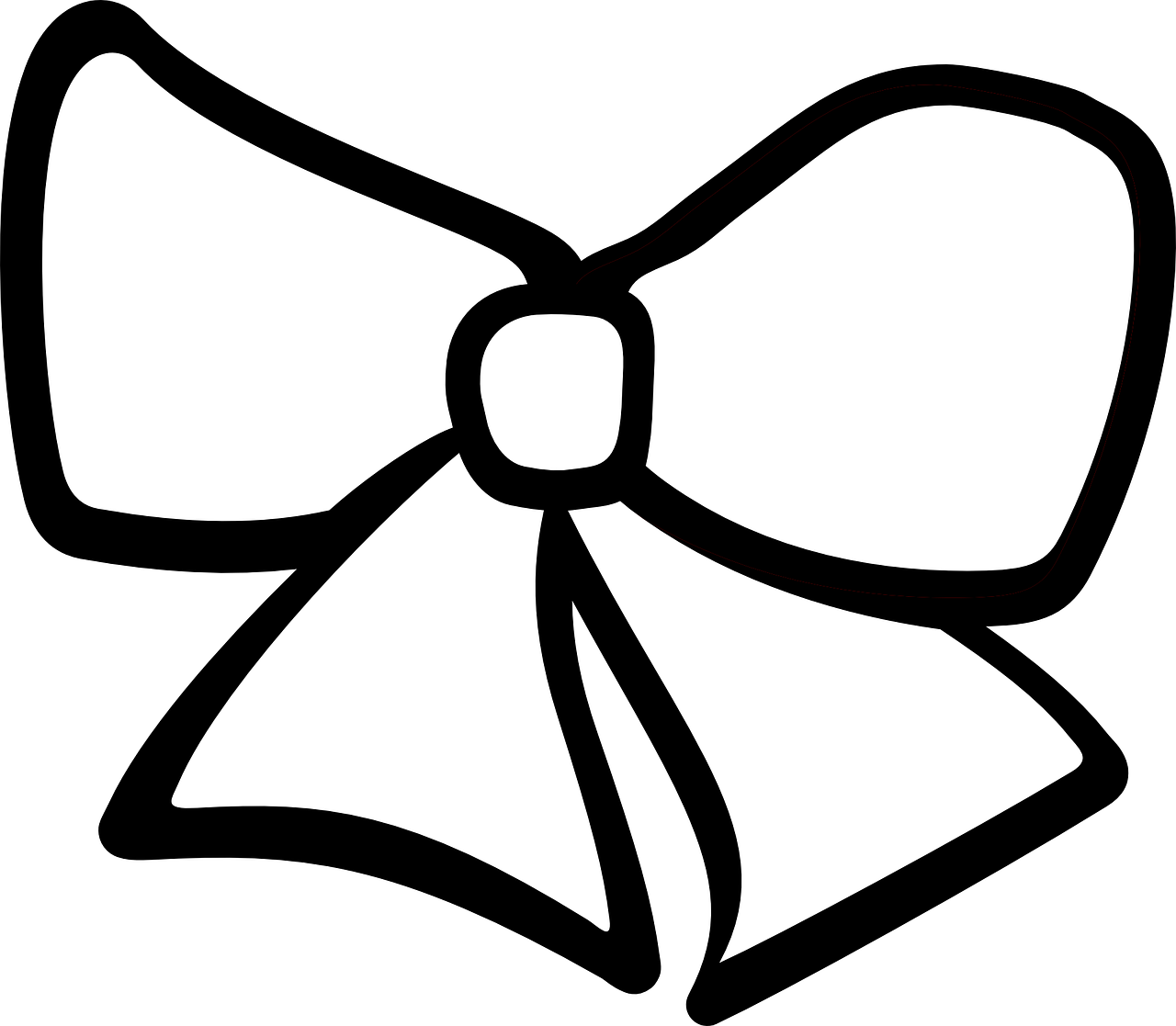 Ribbon Hair Bow   Free vector graphic on Pixabay