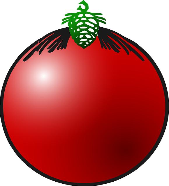 Gratis Vectorafbeelding Kerstbal Decoratie Red Gratis