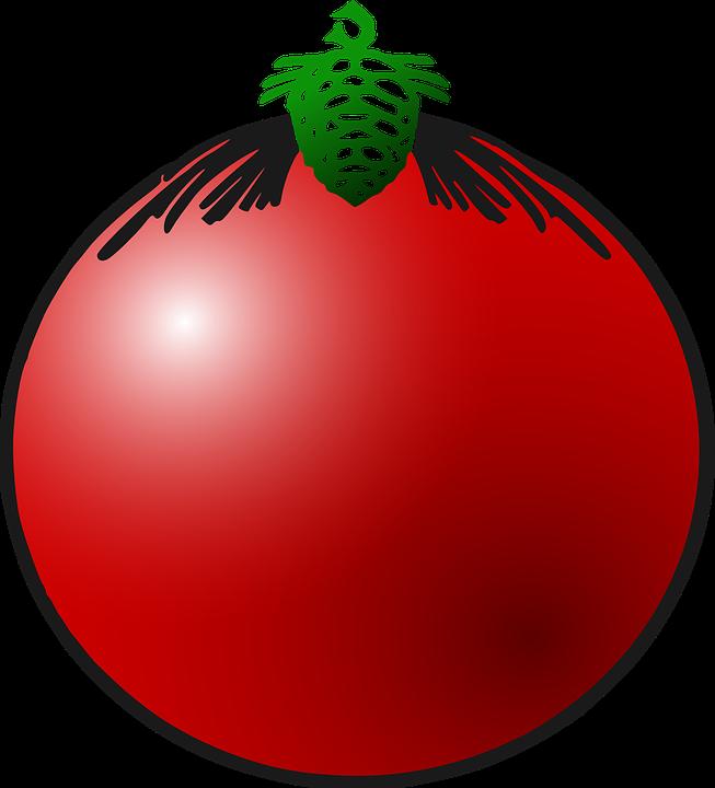 Kostenlose vektorgrafik weihnachtskugel dekoration rot - Weihnachtskugeln transparent ...
