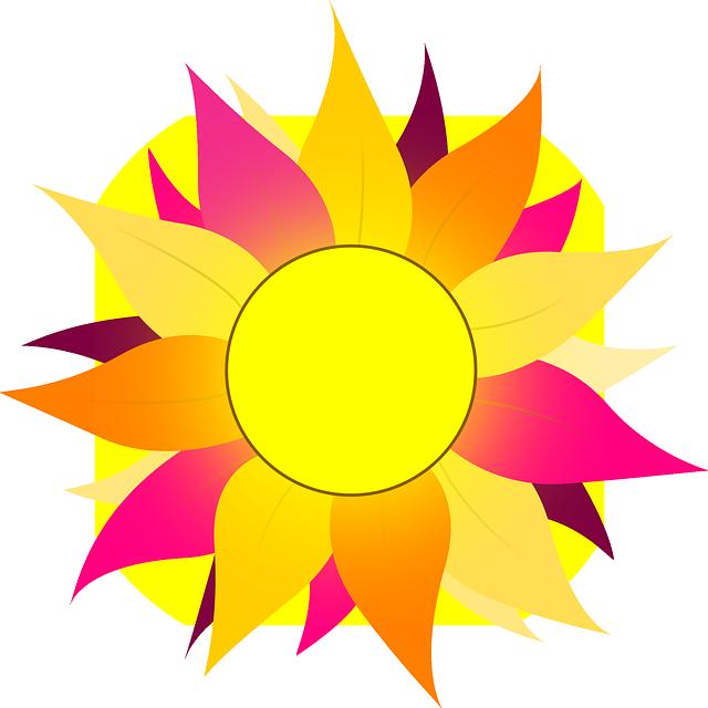 картинки с солнышком и цветами в цветном рисунке сто раз