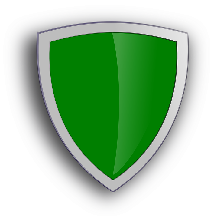 Green Shield Sign · Free vector graphic on Pixabay