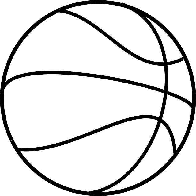 Basketball sport round free vector graphic on pixabay for Free basketball coloring pages