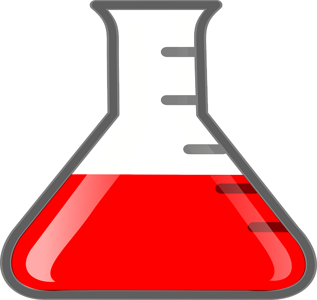 Flask Beaker Red · Free vector graphic on Pixabay Minecraft Glass Bottle