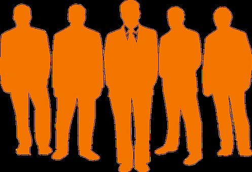 Homens, Grupo, Líder, Empresários