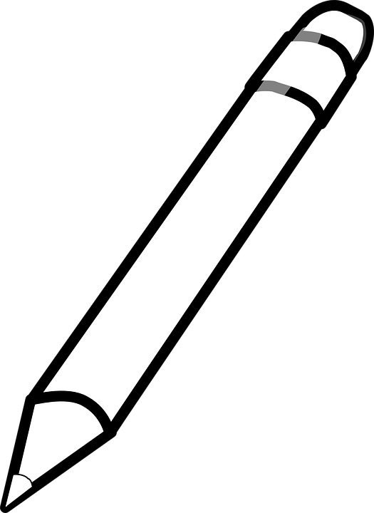 Pencil Crayon White Free Vector Graphic On Pixabay
