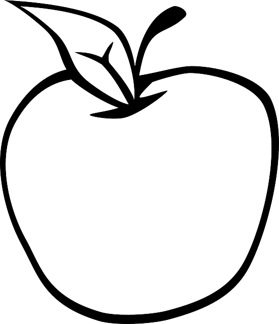 Apple leaf fresh free vector graphic on pixabay - Dessin pomme apple ...