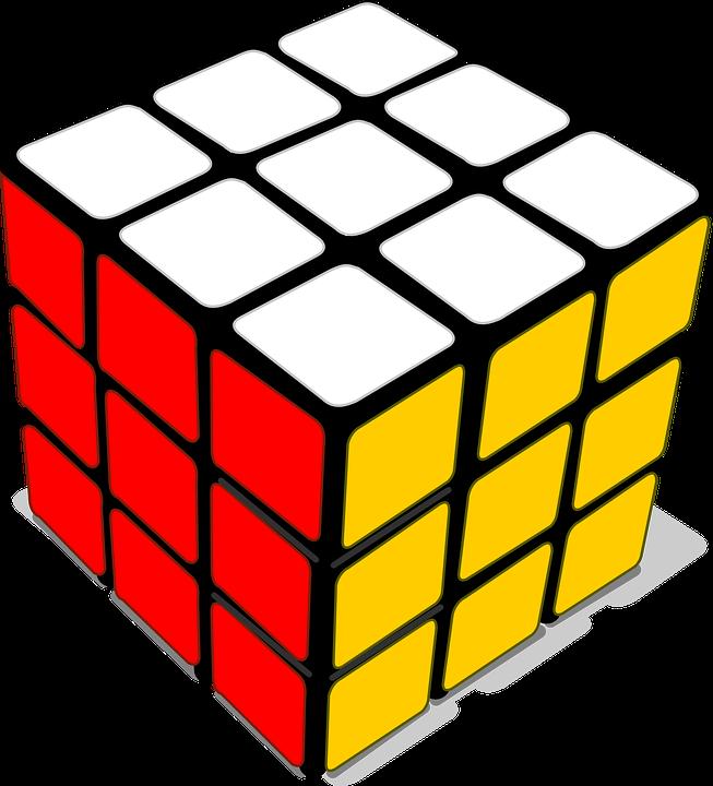 Image vectorielle gratuite cube jeu cubix red jaune blanc image gratu - Jeu de cube comme minecraft ...
