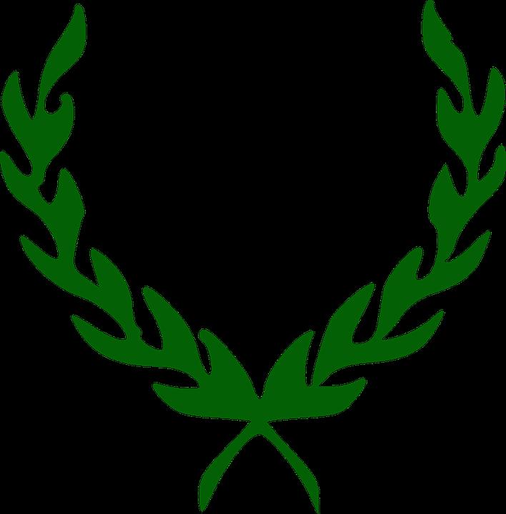 laurel leaf crown template - vector gratis corona hojas laurel imagen gratis en