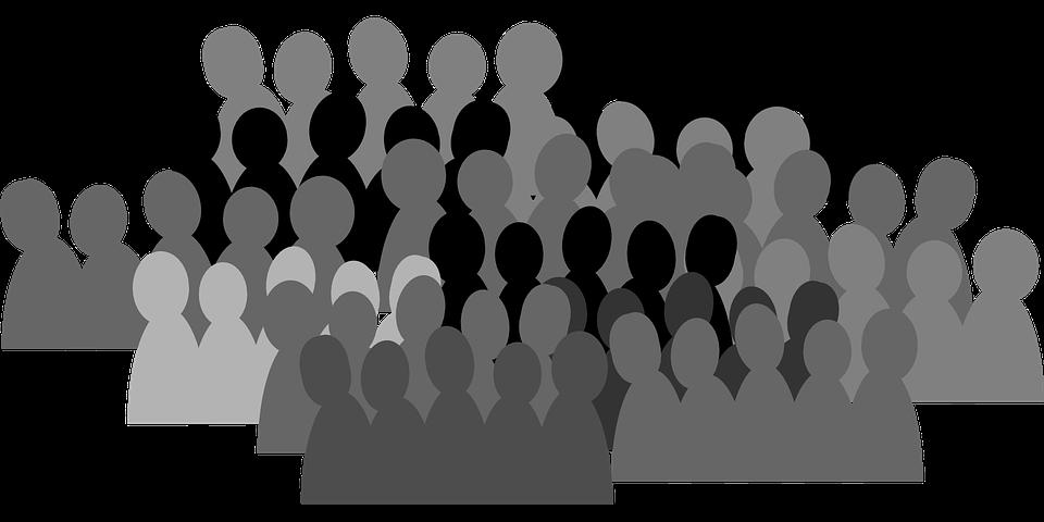 Multitud De Gente Silueta: Multitud Masa Personas · Gráficos Vectoriales Gratis En