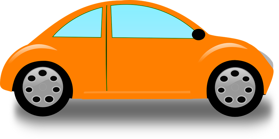 Car Automobile Orange 183 Free Vector Graphic On Pixabay