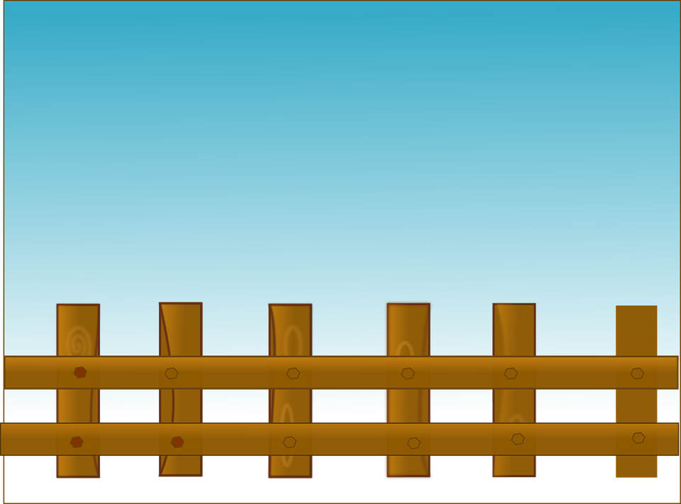 Clipart Fazendinha Png: Free Vector Graphic: Fence, Sky, Wooden, Brown, Blue
