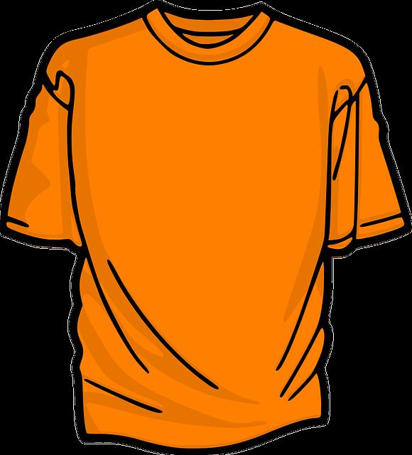 image vectorielle gratuite t shirt avant court orange image gratuite su. Black Bedroom Furniture Sets. Home Design Ideas