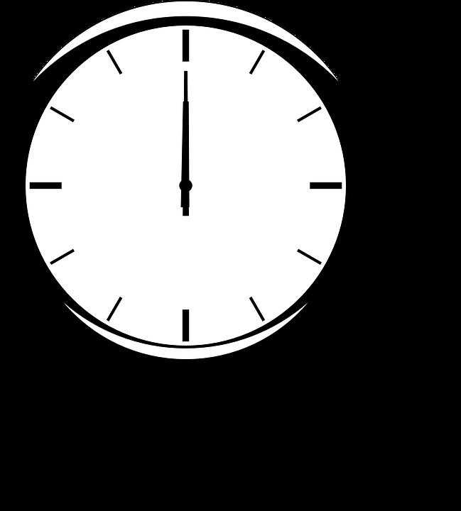 Free Vector Graphic Clock Time Twelve Hands Analog
