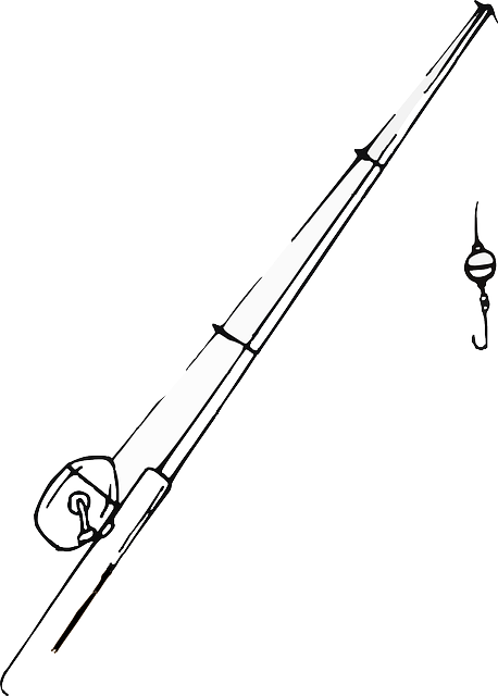 Fishing Rod Colouring Pages Sketch Coloring Page